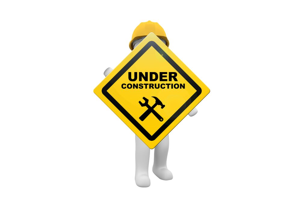 maintenance, under construction, in the construction